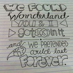 Wonderland- Taylor Swift