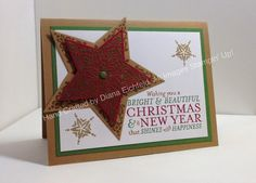 Stampin' Fun with Diana: Hand Stamped Sentiments Color Challenge: Bright & Beautiful, Big Shot, Framelits, Embossing, Christmas, Card, Stampin' Up, Diana Eichfeld