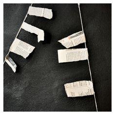 Newspaper garland
