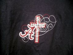 Alabama houndstooth cross applique shirt   by southernstitches73, $20.00