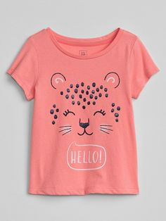 Gap Baby Graphic Short Sleeve T-Shirt - Critters 5 Yrs Girls Clothes Sale, Baby Kids Clothes, Toddler Girl Outfits, Kids Outfits, Kids Nightwear, T Shirt Painting, Baby Fashionista, Kids Prints, Summer Shirts
