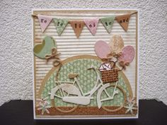 card with bicycle - - Maria's kaartjes: Special Marianne Design Cards, Bicycle Cards, Birthday Cards For Boys, Die Cut Cards, Animal Cards, Cool Cards, Kids Cards, Creative Cards, Anniversary Cards