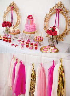 Sparkly Princesses & Unicorns Birthday Party {Pink & Gold}
