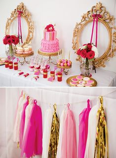 Sparkly Princesses & Unicorns Birthday Party {Pink & Gold}