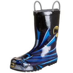 Western Chief Batman Rain Boot (Toddler/Little Kid/Big Kid) Western Chief. $29.95. Water and weather proof design. synthetic. Decorated with his favorite character. Rubber sole. Easy-on pull handles. Rubber outsole offers durability and traction. Moisture-absorbing cotton lining