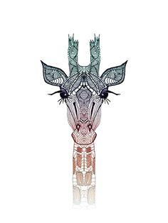 Aztec giraffe art