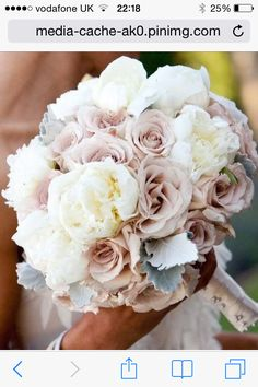 Need a bridal bouquet inspiration for your wedding? Consider the white bridal bouquet. While we love scoping out all of the innovative floral designs that are out there, a white bouquet will forever be timeless. But why white? Wedding Flower Photos, Bridal Flowers, Flower Bouquet Wedding, Silk Wedding Bouquets, Silk Flowers, Wedding Dresses, Dusty Rose Wedding, Floral Wedding, Wedding Colors