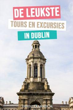 Weekendje Dublin gepland? Leer de stad beter kennen tijdens een tour. Bekijk hier een overzicht van de leukste tours, wandeltochten en excursies tijdens een stedentrip Dublin. Dublin Tours, Backpacking, Travel Guide, Dutch, Ireland, World, City, Building, Wanderlust