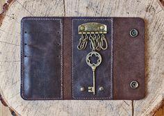 Купить Кожаная ключница / кожаный картхолдер / Кошелек / Чехол для ключей /