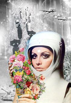"""Annette von Stahl, """"no more war', vintage collage"""