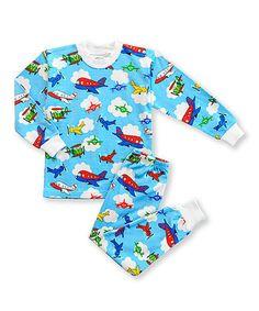 Love this Blue Airplane Pajama Set - Toddler & Kids on #zulily! #zulilyfinds