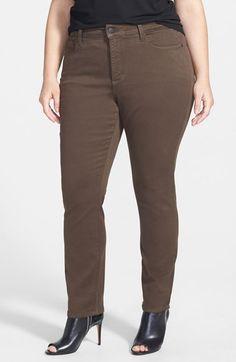 plus size brown skinny jeans - Jean Yu Beauty