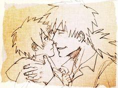 <3 Kakashi & Sakumo Hatake (father; aka Konoha's White Fang) - by まめピヨ, [pixiv]