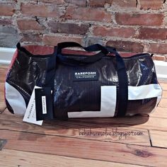 RAREFORM light duffle bag made with #upcycled billboard - giving one away!