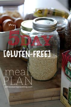 My 5-day [gluten-free] Meal Plan // With Style & Grace