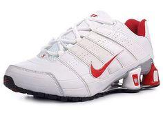 f8af37830fba Chaussures Nike Shox NZ Blanc/ Rouge [nike_12038] - €49.95 : Nike Chaussure