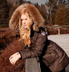 This product image released by Pajar Canada shows a mocha colored Cougar jacket made of rabbit and raccoon fur.