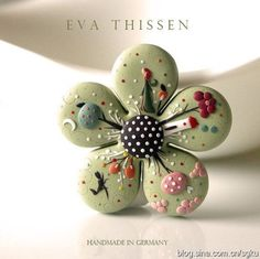 【手工库】EvaThissen的细致唯美软陶饰品附视频教程