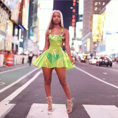 Step up your style with this hologram PVC overall dress. Features a a flared skirt, shoulder straps and a look to slay them all! Neon Outfits, Rave Outfits, Girl Outfits, Fashion Outfits, Womens Fashion, Fashion Boots, Black Girls, Hot Girls, Lingerie Look