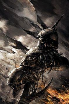Aliens Vs Predator 3 world's war Cover Art by Raymond Swanland Alien Vs Predator, Predator Alien, Arte Alien, Alien Art, Dark Fantasy Art, Dark Art, Predator Tattoo, Alien Film, Giger Art