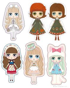 Free Printable: Blythe Gift Tags or Paper Dolls Ornaments