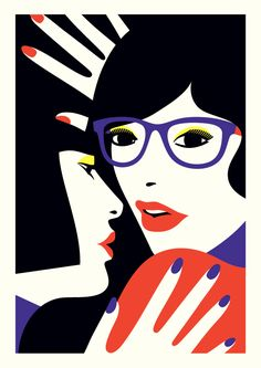 Cleo&Lea  50 Limited edition Giclee print created for the launch exhibition of Artistic.ly