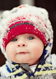 O that looks mighty cold!! Sweet little face :)