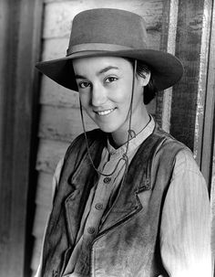 The Young Riders Cast, Lou, hat, beauty, great tv, miss them, portrait, photo b/w.