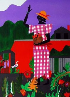 ROMARE BEARDEN (1911-1988) was an American artist who depicted African-American life within different types of media including cartoons, oils, and collages. His works during the 1950s reflected more o
