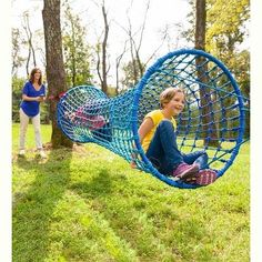 Horizontal Rope Tunnel For Kids Outdoor Play, Blue Wave - Hearthsong : Target Kids Outdoor Play, Kids Play Area, Backyard For Kids, Outdoor Games, Outdoor Fun, Space Kids, Play Areas, Outdoor Jungle Gym, Outdoor Playset
