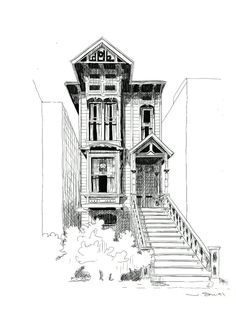 Perspective Drawing Lessons, Perspective Sketch, Perspective Building Drawing, Cityscape Drawing, City Drawing, House Drawing, Architecture Drawing Sketchbooks, Architecture Concept Drawings, Drawings Of Buildings