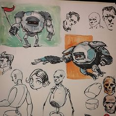 Daily practice #sketching #sketches #sketch #pen #study #gouache #practice #daily #copic