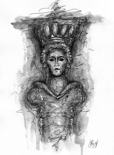 Caryatid - Digital print Premium Satin Photo Paper 300 gm signed by the artist-Ancient Greece - Archaeology Printed Pencils, Art Prints, Ancient, Giclee Art, Giclee Art Print, Art, Downloadable Print, Digital Prints, Photo Paper