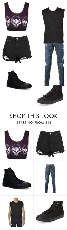 """MRLPMEANDMYSELF"" by amelia139 on Polyvore featuring WearAll, Converse, Vanishing Elephant and skull"