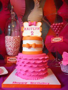Tutu & tie themed cake