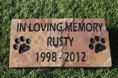 Hey, I found this really awesome Etsy listing at http://www.etsy.com/listing/162310133/pet-memorial-grave-marker-headstone