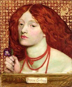 Regina Cordium, 1860 (panel) by Rossetti, Dante Charles Gabriel (1828-82) - Bridgeman - Art, Culture, History