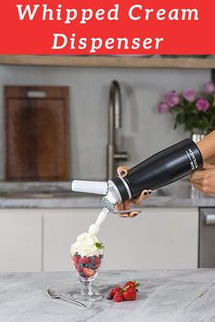 EurKitchen Professional Whipped Cream Dispenser w/Leak-Free Reinforced Aluminum Threads for Max Durability and Safety - Cream Whipper (Black) - Use Standard 8 Gram Chargers (Not Included) Whipped Cream Maker, Keto Whipped Cream, Ice Cream, Easy Family Meals, Easy Meals, Fluffy Scrambled Eggs, Cream Soups, Nitro Coffee, Sugar Substitute