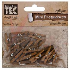 Aplique Mini Pregadores Vintage - Toke e Crie - AV001 - CasaDaArte