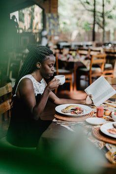 "Travel blogger ""Chocolaty Prints"" at Heaven Hotel in Kigali, Rwanda by photographer Gunvor Eline Jakobsen."