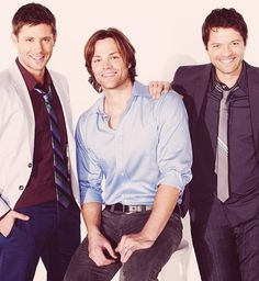 Jensen Ackles, Jared Padalecki, Misha Collins: Supernatural handsomeness.