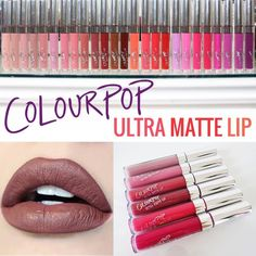 ColourPop Ultra Matte Lip Liquid Lipstick. This thin and lightweight formula glides onto the lips smoothly and leaves SUPER intense pigment-rich colour with a bold, ultra matte look. Step 4: Apply Ultra Matte Lip with the applicator or your favorite lip brush. | eBay!
