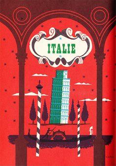 Italie - vintage illustrations by Maurice Laban