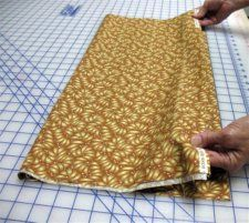 How to square up fabric.