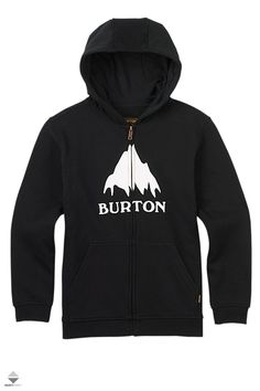 Burton Classic Mountain Full-Zip Hoodie - Boys' True Black, S - dr. who clothes Boys Hoodies, Mens Sweatshirts, Sorority Shirts, Tee Shirts, Burton Kids, Coupon, Layout, Outdoor Outfit, Full Zip Hoodie
