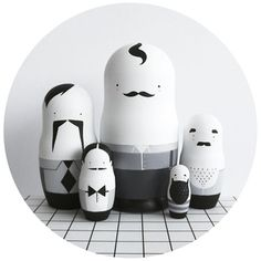 MEN FOLK Nesting Dolls