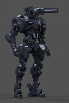 """Gunner Droid wip"" by Aaron Deleon : ImaginaryMechs"
