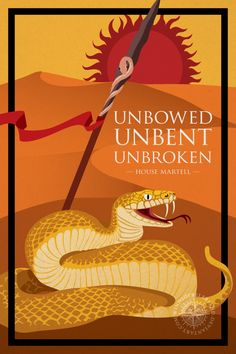 "Unbowed, Unbent, Unbroken: House Martell - Deviant Artist ""windsofbeleriand"""