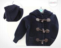 Gorgeous, woollen hooded jacket by Kuxo