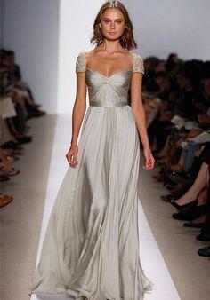 Reem Acra satin gown with sweetheart neckline, a-line silhouette, and beaded embellishments I Style: Olivia I https://www.theknot.com/fashion/olivia-reem-acra-wedding-dress?utm_source=pinterest.com&utm_medium=social&utm_content=june2016&utm_campaign=beauty-fashion&utm_simplereach=?sr_share=pinterest